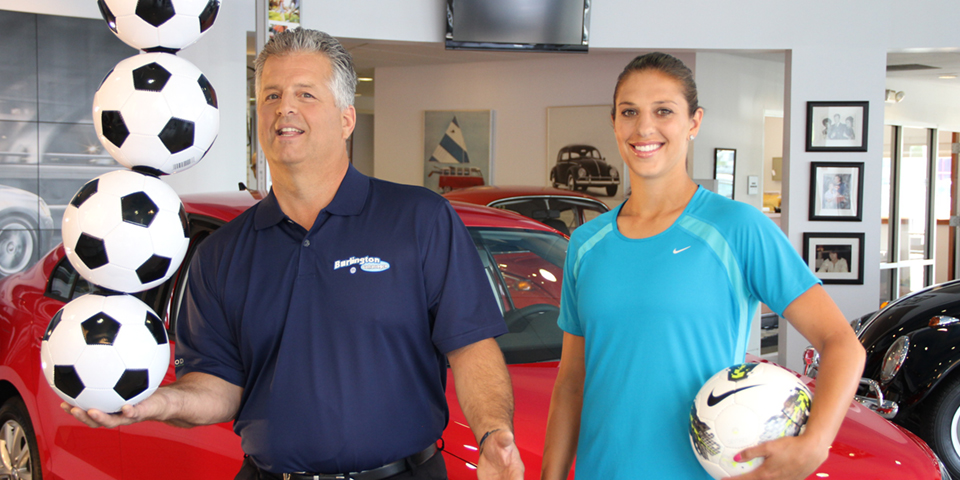 2 time gold medal winner Carli Lloyd with Gus Staino